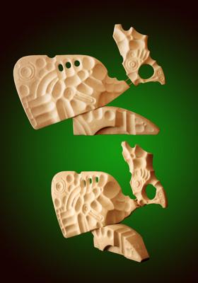 Lasha Khidasheli A Rooster-lamstone 9x6x3