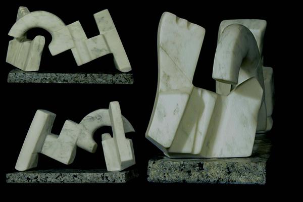 Lasha Khidasheli Seduction-marble 60x10x40