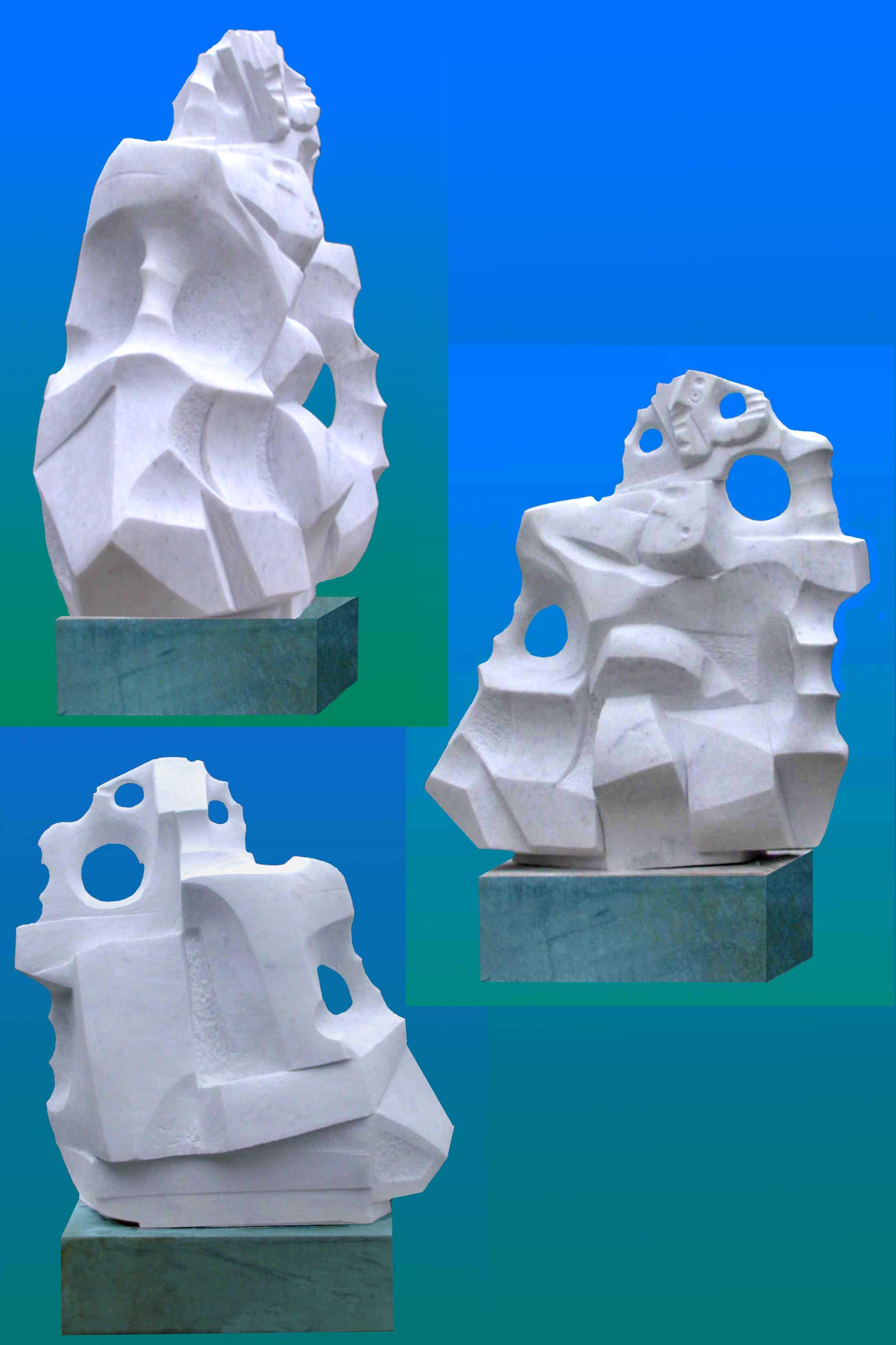 Lasha Khidasheli Temple of Love-marble 50x36x20ey