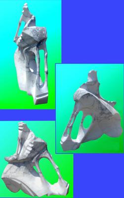 Lasha Khidasheli To Exhale-alabaster stone 25x20x10